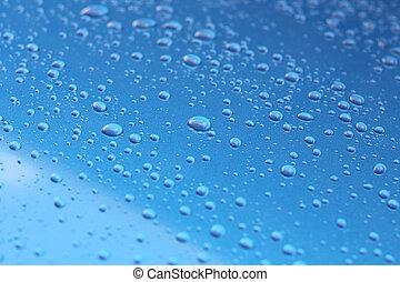 Water drop on glass - windshield rain