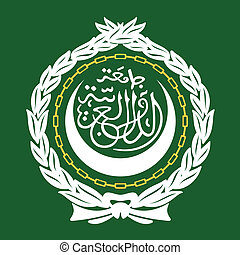 Arab League Emblem - League of Arab States Emblem isolated...