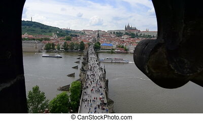 charles bridge prague from top - Charles bridge in prague...