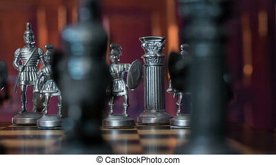 chess figures dolly DOV natural bac - An dolly move along...