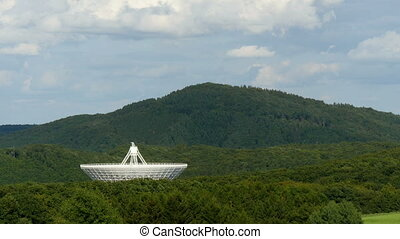 huge radio telescope valley time - The giant Effelsberg...