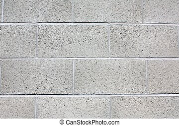 Close-up of gray brick, cinderblock wall. - Cinderblock wall