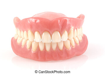 Dentures. - Dentures isolated on a white background.