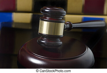 Legal law concept gavel with law books