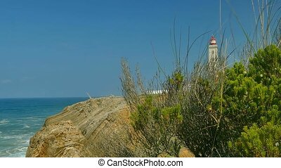 4K-Lighthouse at Sao Pedro de Moe - Rocks, sea and...