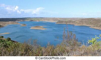 Beliche Dam still view A - Algarve Beliche dam landscape...