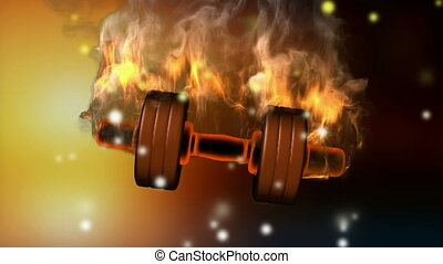 burning dumbbell alpha matted
