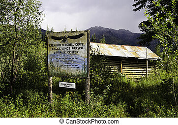 Church in Wiseman Alaska - A view of a church in Wiseman...