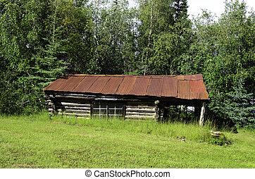 Wiseman village Alaska - A view of homes in Wiseman village...