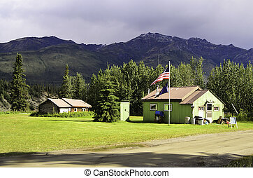 Wiseman village Alaska - A view of homes in Wiseman village...