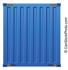 Container - Illustration of cargo container isolated on...