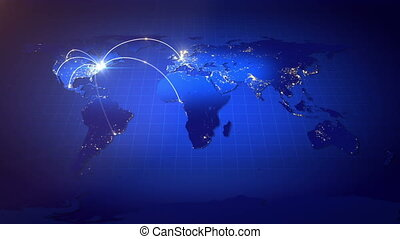 Growing Global Business Network. - Business or Internet...