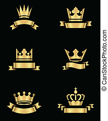 Gold Crowns and Banners