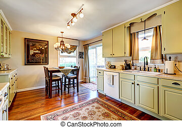 Kitchen interior with dining area