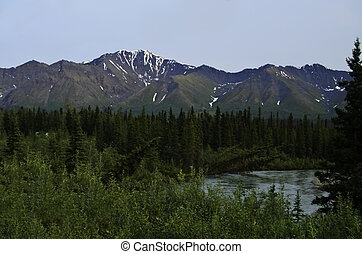 Magestic mountains Alaska - A view of the magestic mountains...