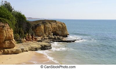 Maria Luisa beach in Albufeira, Portugal This beach is a...