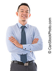 Confident Asian business man - Confident Asian business man...
