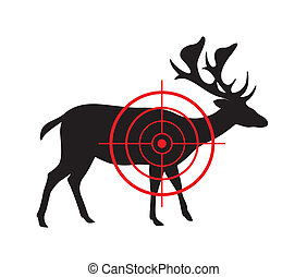 Vector image of a deer target on a white background