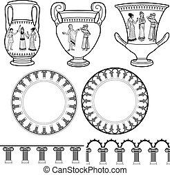 Ancient Greek utensil and pillar ornament