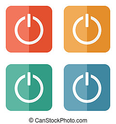 Start power button icon - Vector illustration