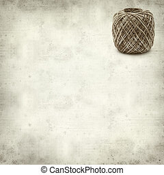 textured old paper background with mercerised cotton crochet...