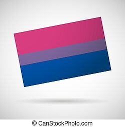 Bisexual flag - Illustration of an isolated bisexual flag