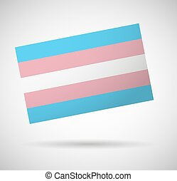 Transgender flag - Illustration of an isolated transgender...