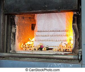 caixão, cremação