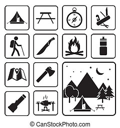 camping equipment icon