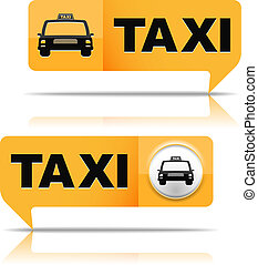 Taxi Banners - Two taxi banner on white background, vector...