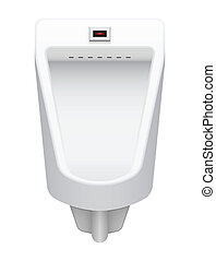 Urinal - Illustration of urinal on white background.