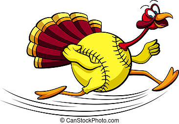 Thanksgiving Turkey Softball - illustration of a turkey...