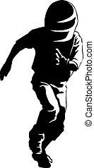 Boy Baseball Runner Silhouette