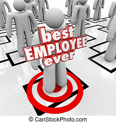 Best Employee Ever Person Worker Org Chart 3d Words