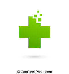 Medical logo icon design template with cross and plus Vector...