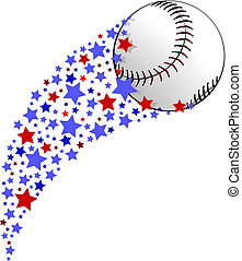 Baseball or Softball Star Field Swoosh - illustration of a...