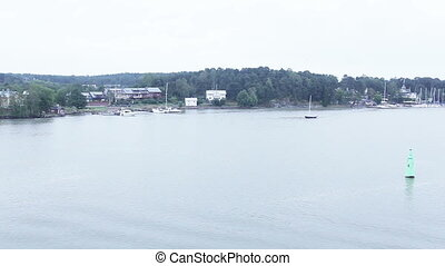 View over sea islands Fin - With swimming by ferry view on...