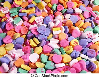 Field of Candy Hearts - Background of Candy Hearts