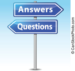 Vector answers and questions signs