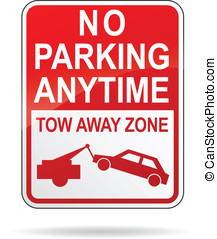 Vector no parking anytime sign - Vector illustration of no...