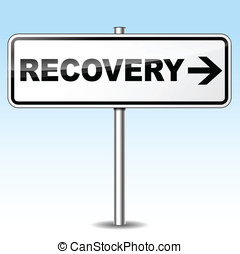 Vector recovery sign - Vector illustration of recovery...