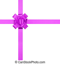 composition for present or gift with purple ribbon bow,...