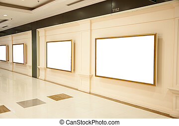 exhibition boards - Blank interiors exhibition boards on a...