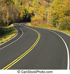 Winding scenic highway - Close-up photo of a scenic highway...