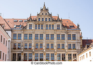 Historic House Facade in Goerlitz - Historic facade of the...