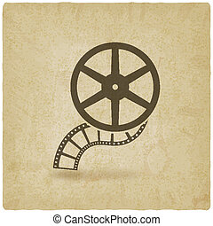 film roll old background - vector illustration. eps 10