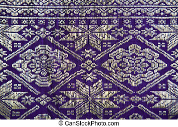 Songket Palembang - Detail of a Songket from Palembang,...