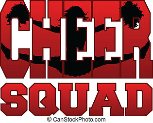 Cheer Squad With Cheerleader - Illustration of a cheer squad...
