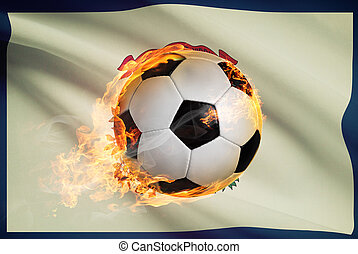 Soccer ball with flag on background series - West Virginia