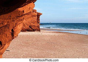 Red Cliffs at Dune de Sud on Iles dela Madeleine